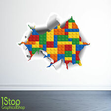 LEGO WALL STICKER 3D FULL COLOUR - BOYS LEGO GRAPHIC - C323