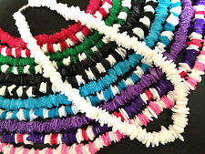 "PUKA SHELL NECKLACE HAWAIIAN SURFER CHOKER BEACH NECKLACE * 18"" WITH SCREW CLASP"