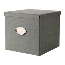 IKEA KVARNVIK Box With Lid Gray Choose Between Different Sizes Brand New