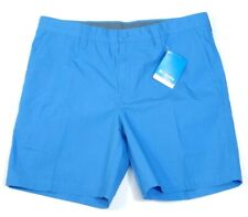 Columbia Sportswear Company Blue Flat Front Casual Shorts Mens NWT