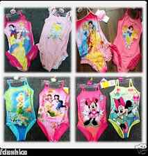 DISNEY PRINCESS FAIREIES MINNIE MOUSE GIRLS KIDS SWIMSUIT SWIMMING COSTUME 2-8Y