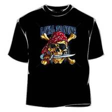 Loyal To None Pirate Skull Biker Shirt