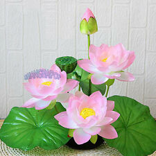 Artificial Lotus Water Lily Flowers Plants Craft Home Decor Decorative Purple