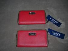 Chaps Womens Wallet ~Zip-Around or Clutch Styles~Claret Red ~Retails $42~NWT
