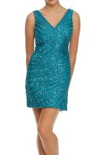V Neck Formal Short Prom 2014 Mother Of The Bride Party Cocktail Dress