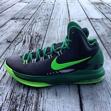 Nike KD V 5 Durant Basketball Shoes - 554988-004 Black Electric Pine Green Mens