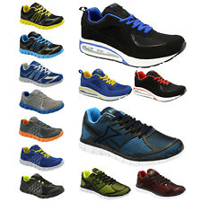 MENS RUNNING TRAINERS BOYS GYM WALKING SHOCK ABSORBING AIR SPORTS SHOES SIZE NEW