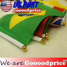 BRAZIL FIFA WORLD CUP 2014 Flag 32 Teams Small Size 14cm X 21cm #FAST SHIPPING#