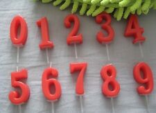 Red Number Happy Birthday Cake Cupcake Candle Party Age Celebration Decoration