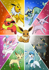 p270  Personalised poster made to order custom special present Pokemon eevee