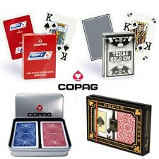 COPAG 100% PLASTIC POKER PLAYING CARDS DECKS MADE IN BRAZIL AND BELGIUM ORIGINAL