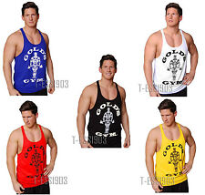 Gold's Gym Vest, ✔S-XXL Stringer, Racerback, Tank Top, Bodybuilding Golds Gym