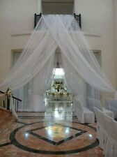 "Wedding sheer drape, curtain 21''x116""  white or ivory, backdrop, room divider"