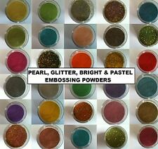 15ml embossing powder - Choice of 45 Colours! Wow! Heat it up for great results!