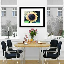 Breaking Through the Dawn Sunflower Signed Original Handmade Matted Picture A586