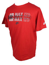 Nike Air Max Ltd Rouge Coton Slim Performance Fitness Sport T Chemise Taille S -