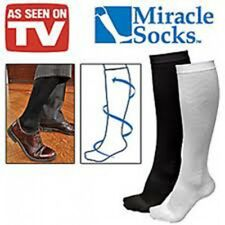 2 Pairs Miracle Socks Anti-Fatigue Compression Socks in Retail Box As Seen On TV