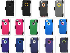 For iPhone 5C Defender Case Outer Series Cover w/Belt Clip & Screen Protector