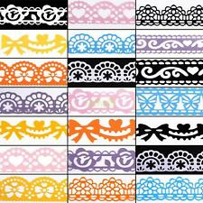 Mix Styles DIY Diary Decorative Stickers Stationery Lovely Lace Adhesive Tape