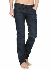 $228 NWT NEW Mens Diesel Safado 0806X 806X Slim Straight Leg Dark Blue Jeans