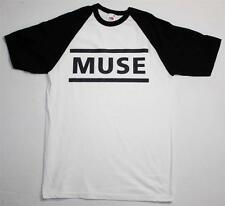MUSE LOGO ALTERNATIVE ROCK THE KILLERS COLDPLAY NEW WHITE/BLACK BASEBALL T-SHIRT