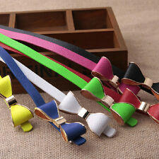 Beautiful Candy Color Waistband Bowknot PU Leather Thin Skinny Belt for women