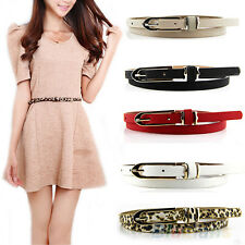 Classic Womens Leather Waistband Girdle Skinny Buckle Belt Clothes Accessories