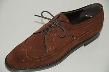 $745 NEW MANOLO BLAHNIK Flats LORENZA Spectator Lace up  Brown SHOES 35 4.5