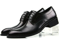 New Men's Cow Leather Shoes Dress Formal Lace-ups Business Size 6~11 Black Brown