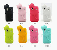 3D Hide Cat Silicone Case for Samsung Galaxy Ace S5830 Protective Rubber Shell