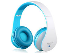 New Bluetooth On ear Stereo Headphones with Microphone Headset Black White Beat