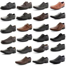New Mens Stylish Smart Formal Party Brogue Lace Up Comfy Office Dress Shoes UK