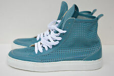 MM6 BY MAISON MARTIN MARGIELA S/S 2013 BLUE PERFORATED LEATHER SNEAKERS