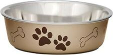 STAINLESS STEEL Bella Designer Non Skid Dog Puppy Cat Bowl