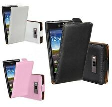 Luxury Flip leather Magnetic Case Cover Hard Shell For LG Optimus L7 P700 P705