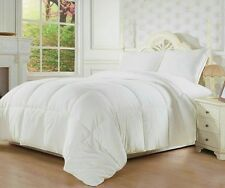 Goose Down Alternative Double Fill Bed Comforter White Twin Queen or KIng