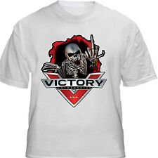 VICTORY MOTORCYCLE MF SKULL T SHIRT SMALL MEDIUM L XL 2X 3X 4X 5X