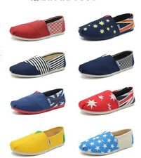 Men's England fashion summer canvas breathable flat comfortable casual shoesW232