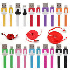 0.2/1/2/3M Flat Noodle USB Data Sync Charger Cable for iPad 4 5 Air Mini Retina