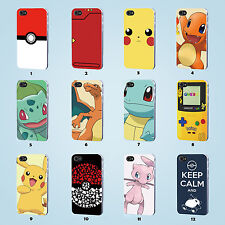 Pokemon cover case for iPhone 4 4S 5 5S 5C 6 6 Plus Samsung Galaxy S3 S4 S5