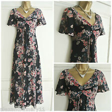 Fab Ex Per Una @ M&S Navy Pink & Cream Floral Floaty Maxi Dress 8 10 12 14 16 18