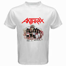 New ANTHRAX Personels Cartoon Metal Rock Band Mens White T-Shirt Size S to 3XL