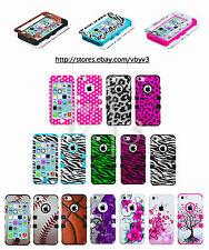 Design Heavy Duty Hybrid Defender Rubber Silicone Hard Case Cover for iPhone 5C