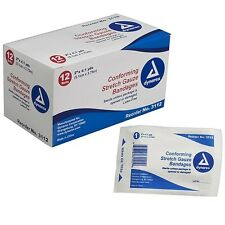 "NEW DYNAREX CONFORMING STRETCH GAUZE BANDAGE STERILE ALL SIZES!! 2"" 3"" 4"" 6"""