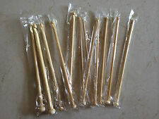"Bamboo 10"" Afghan Tunisian Crochet Hooks - Choose Hook Size - Ships From USA"