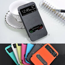 Leather Flip S-View Smart Cover Battery Case For Samsung Galaxy Note 2 II N7100