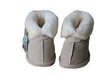 Australian Made genuine sheepskin Slipppers Beige colour For Multi Size