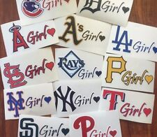 MLB Girl Heart Stickers/Decals