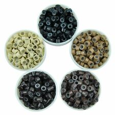 100 200 500 1000pcs Silicone Micro Rings Beads Link for Hair Extensions 5 Colors
