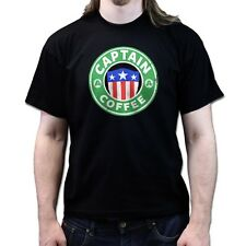 Captain of America Coffee Star T-shirt P558